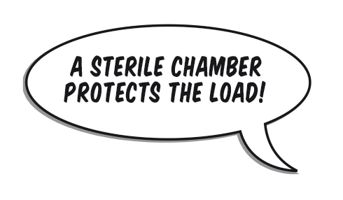 Bubble: A sterile chamber protects the load!